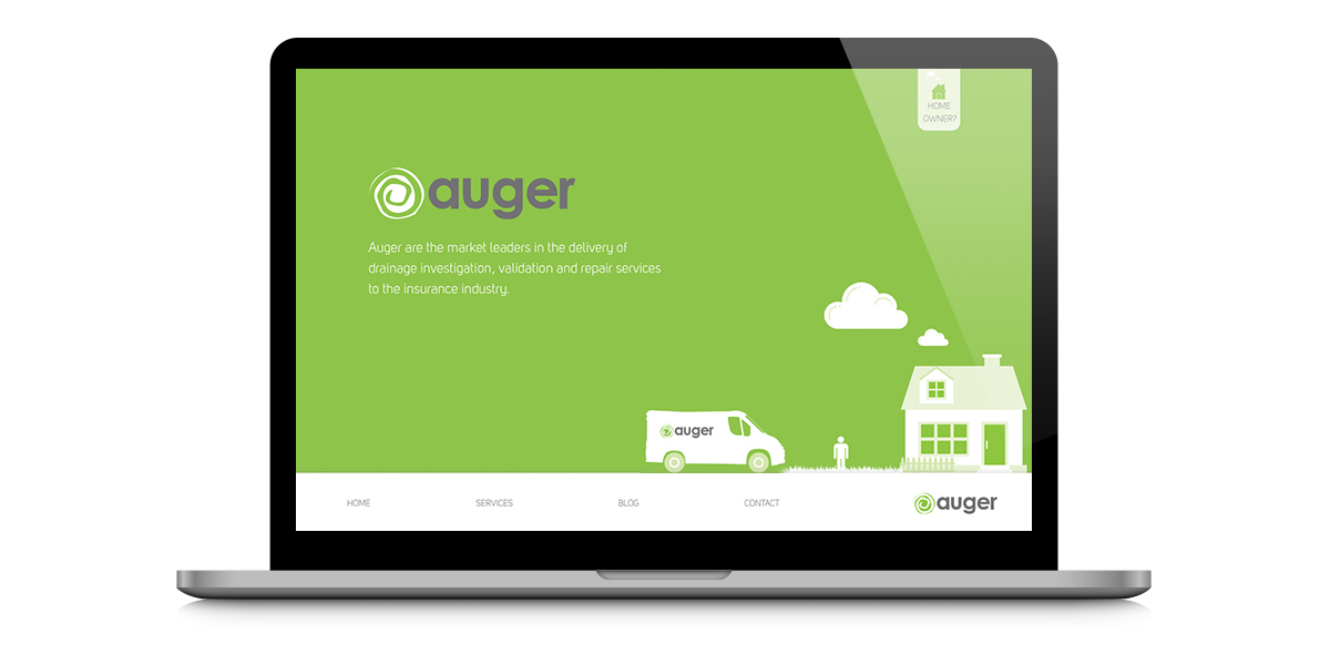 Image showing a preview of Auger's website